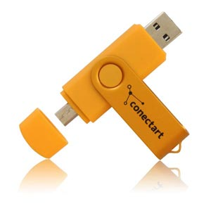 Dual Connector USB Flash Drive Dual Connector Memory Stick